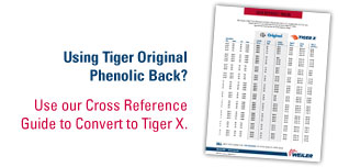 Use our Cross Referance guide to convert to Tiger X.